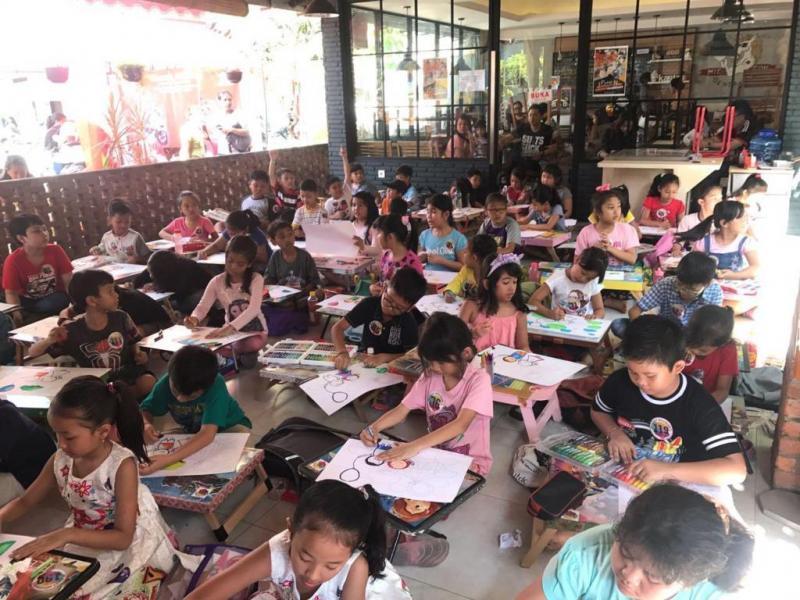 Ratusan Anak Ikuti Lomba Mewarnai Dan Spelling Bee Bali Tribune