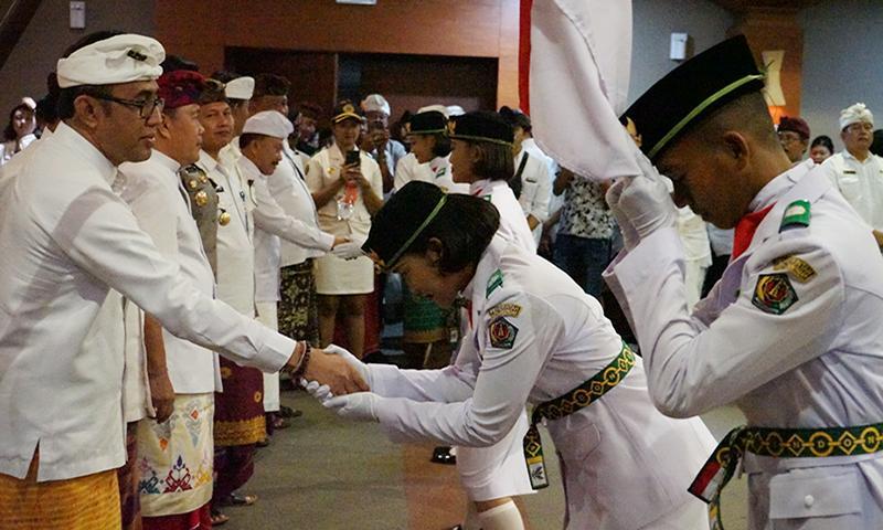 70 Anggota Paskibra Denpasar Siap Kibarkan Merah Putih