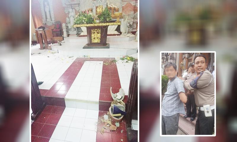Diduga Depresi Karena Doa Tak Terkabul, Pria Paruh Baya Rusak Gereja