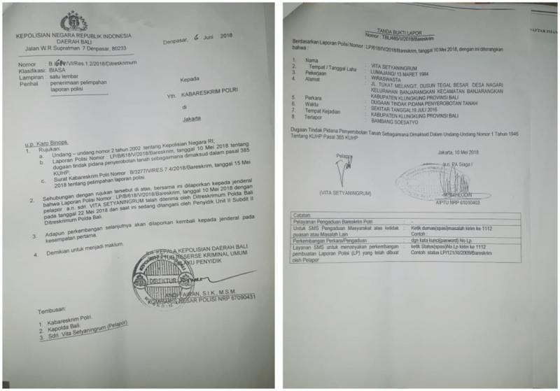 Diduga Serobot Tanah Ketua Dpr Ri Dipolisikan Bali Tribune